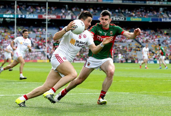 HF at Croke Park and it's all square between @MayoGAA 0-07 and @TyroneGAALive 0-07  #MAYvTYR https://t.co/YD4Plac9UR