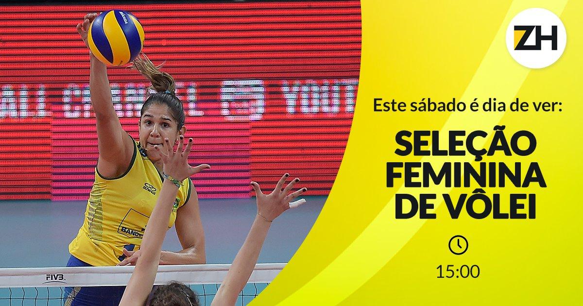 Hoje é dia de torcer pela seleção de vôlei feminino do #BRA. Dê RT agora para ser lembrado do início da partida