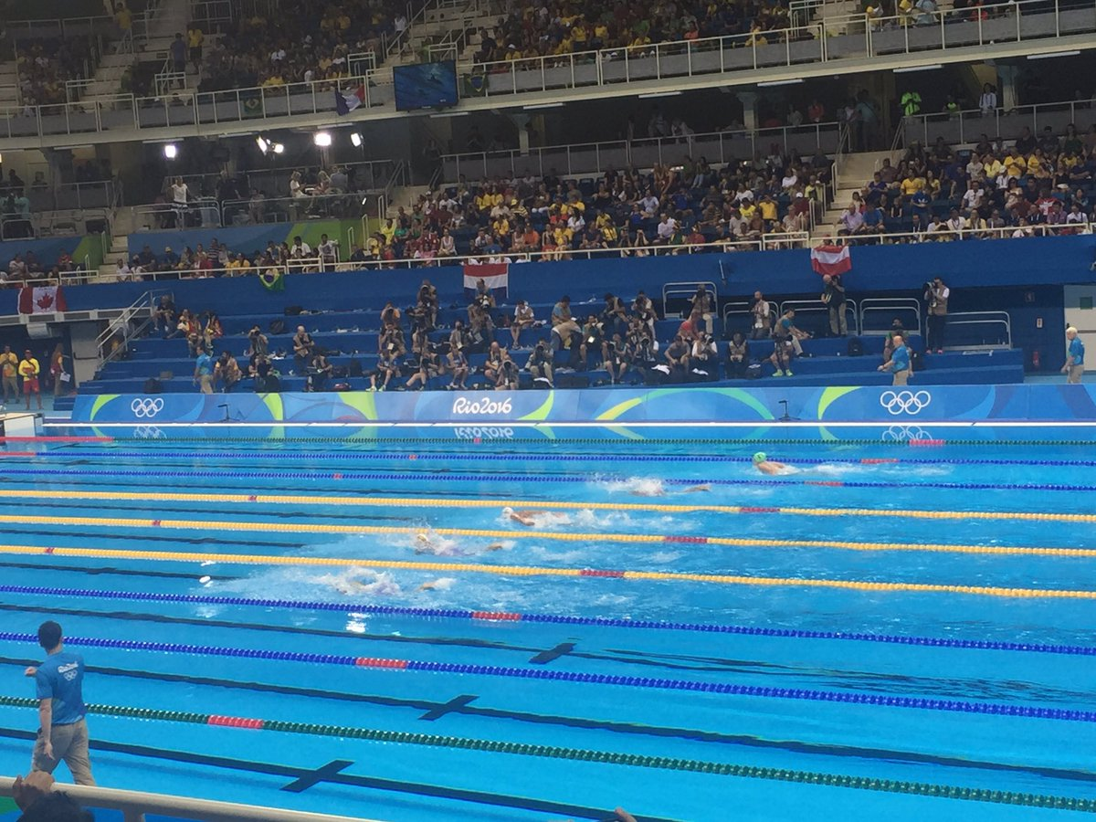 The amazing #YusraMardini finishes 1st in 100 butterfly heat! #TeamRefugees @RefugeesOlympic https://t.co/HV2YOugJq7