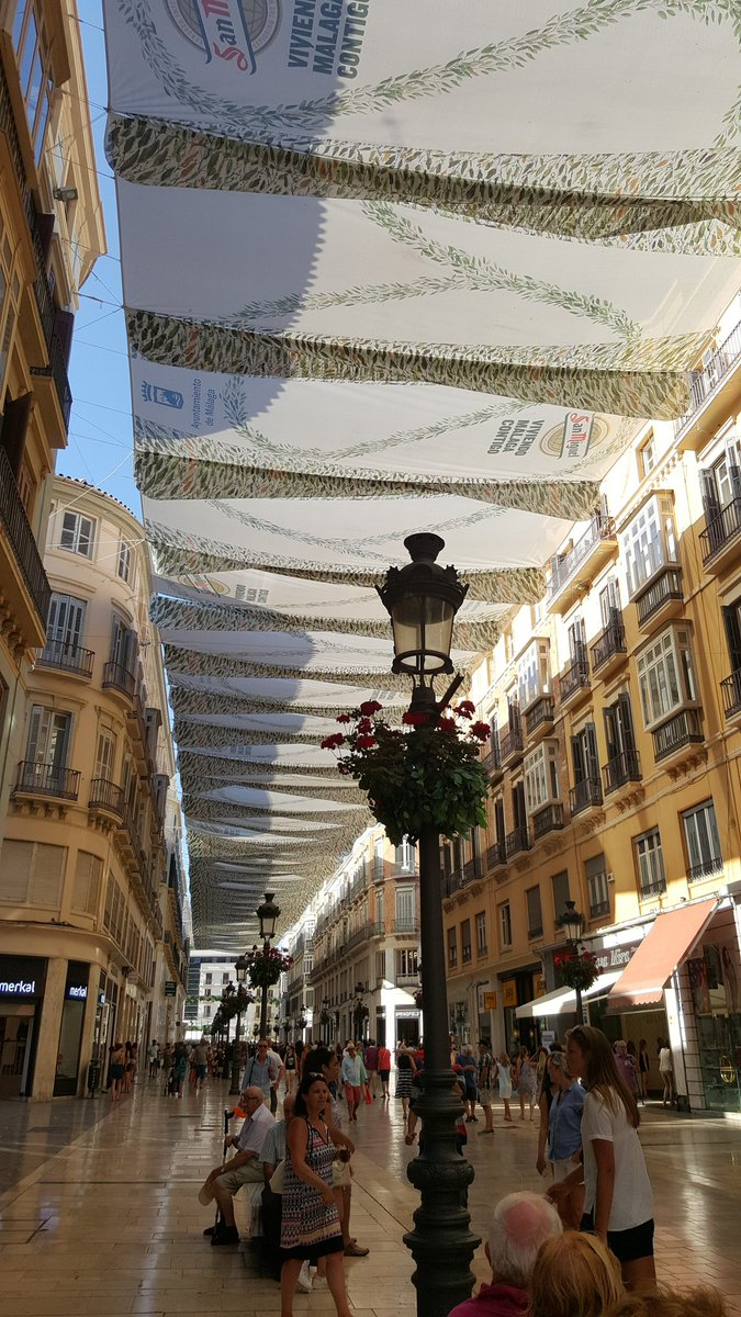 Simple but effective street cooling system in #Malaga, a city that is cool in every way https://t.co/HorkytHyD2