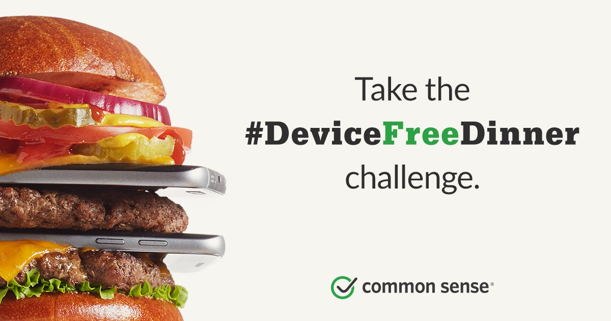 Devices + dinner don't mix. Take the challenge. Make family time count.   https://t.co/fTnF4IJuMN  #DeviceFreeDinner https://t.co/e7e0TtVFCy