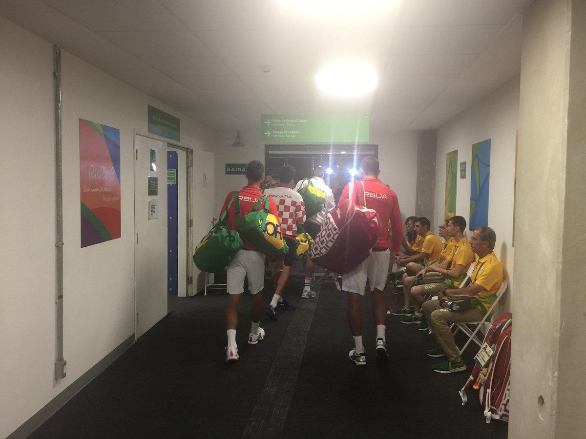 @DjokerNole @nenadzim vs #Draganja-Cilic Going to the the court #TeamSerbia #idemooo #proud #tennis https://t.co/RD1WQr6fIa