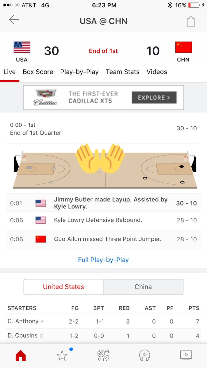 New basketball pages in @espn app just in time for team
