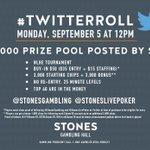 #TwitterRoll #poker #tournament for followers of @StonesGambling @StonesLivePoker Please RT https://t.co/Bn22097OHW
