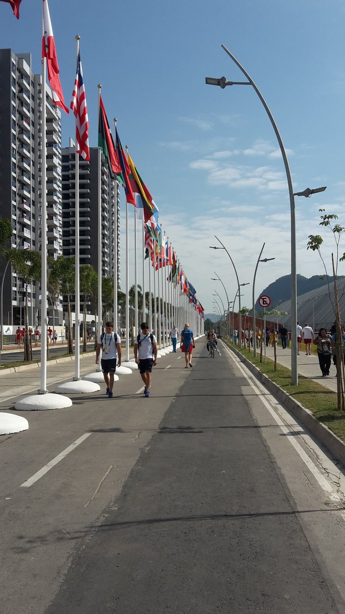 Welcome athletes of the world to the Olympic Village! @officialrio16 @LA2024 @TeamUSA @Olympics #RioOlympics2016 https://t.co/QLsAPM727U