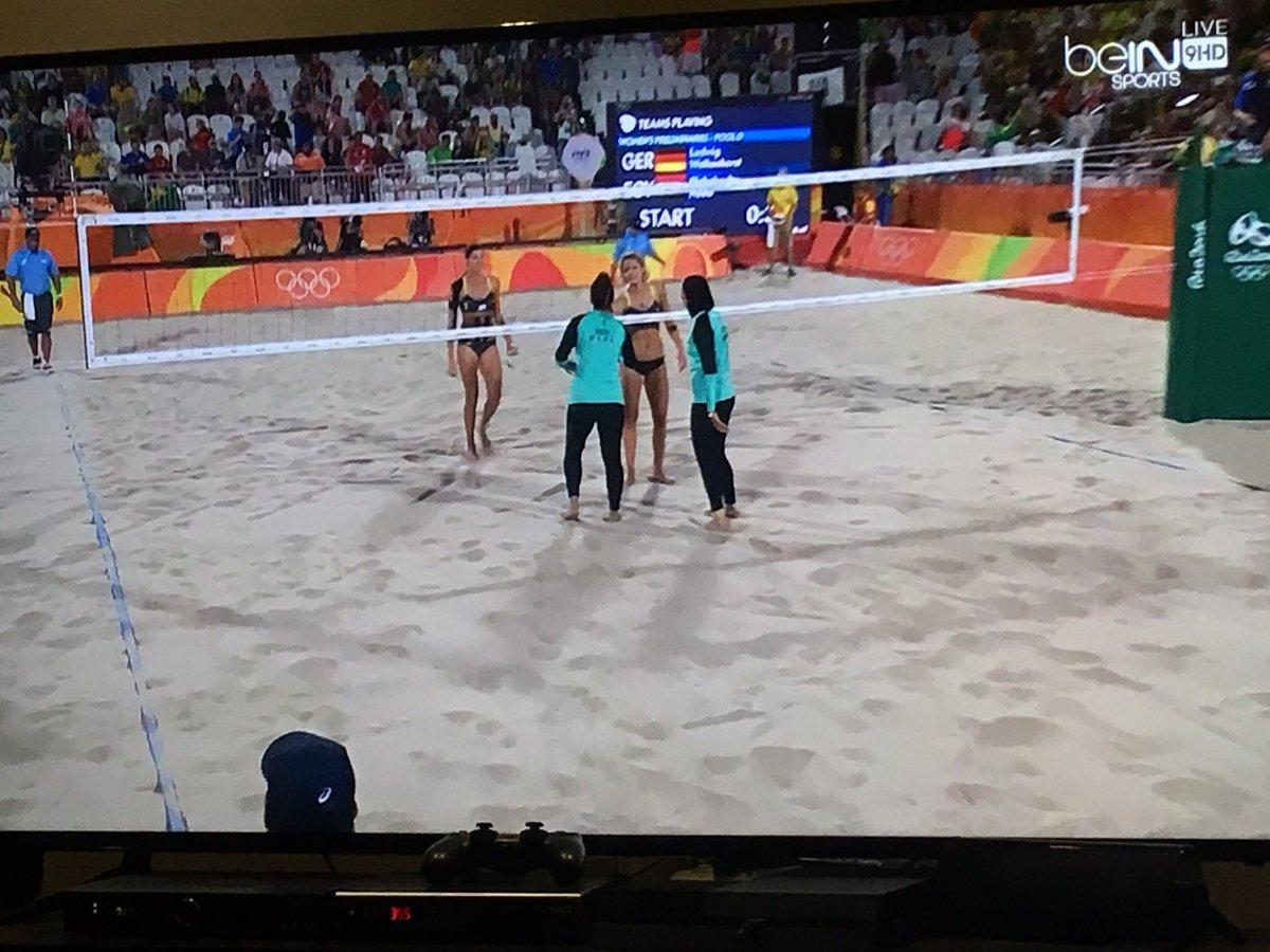 Egypt vs Germany. #Rio2016 #beachvolleyball https://t.co/7jyt4jOsHl