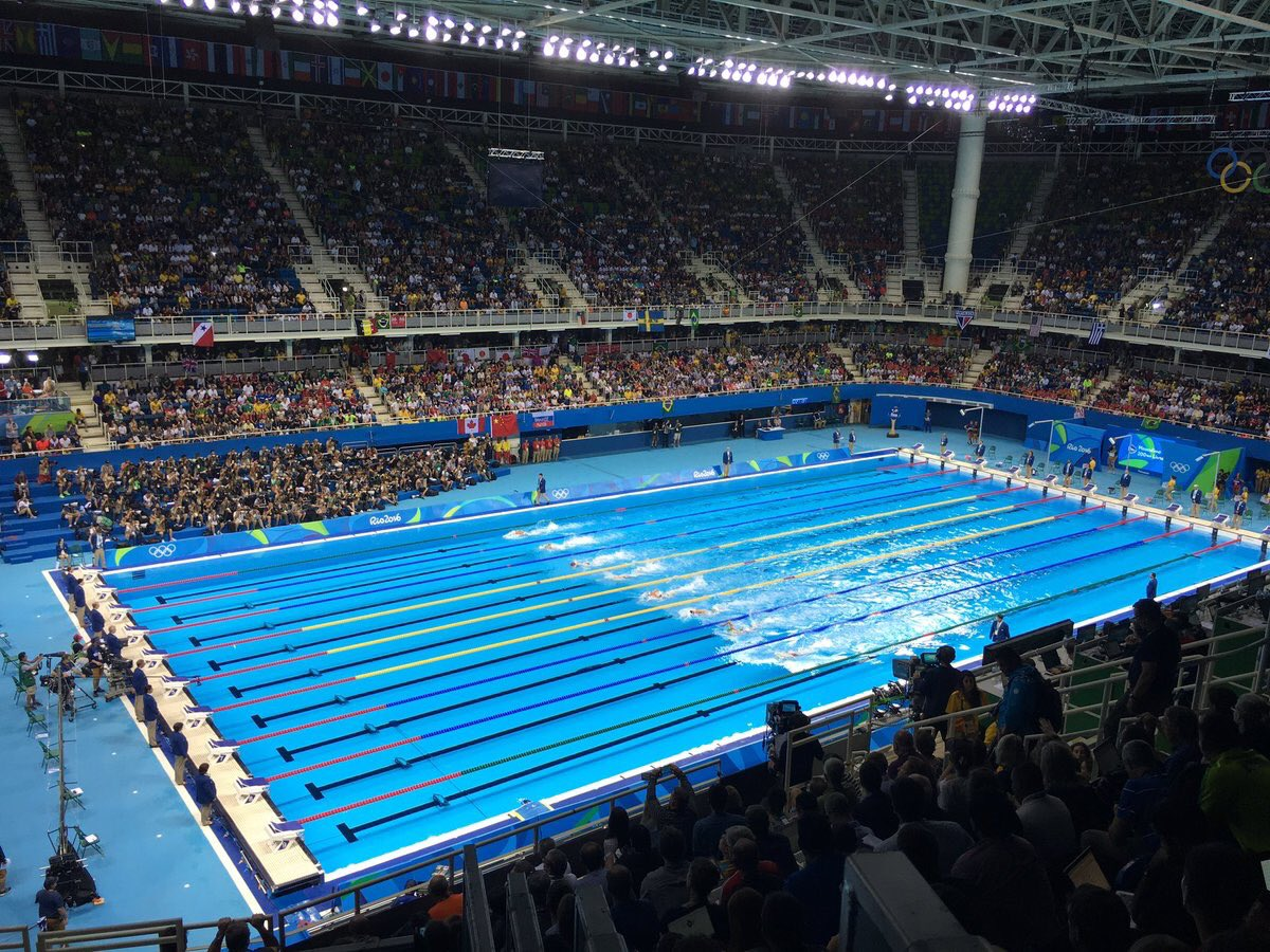 Photo Swim Arena Ahead Of Men 39 S Olympic Swimming Races In Rio Teamusa