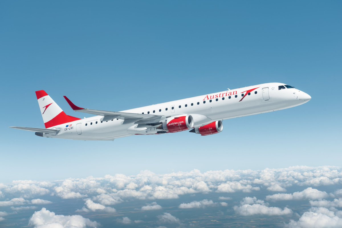 Lucky Number Eight: Next Austrian Airlines Embraer Took Off.