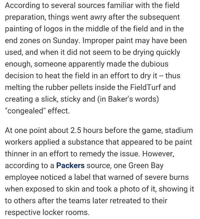 Explanation for horrific field conditions...per @MikeSilver @TheHOFGame #HOFGame https://t.co/lhqI0qyg2c