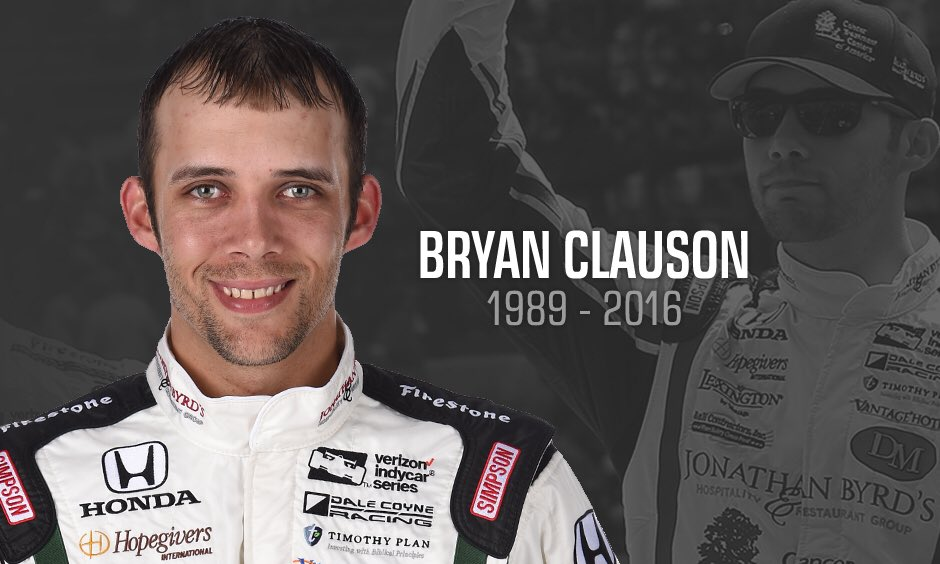 Our heart goes out to the family & friends of @BryanClauson. He will be missed dearly by IMS and the racing family. https://t.co/VRuON5pS4G