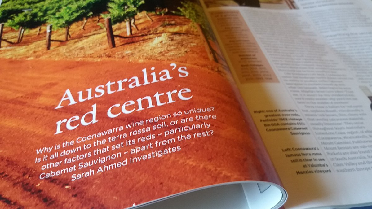 Unearthing @CoonawarraWine terroir in @Decanter this month with, among others, @pjbll @sueatwynns @Bellwetherwine https://t.co/laAucO3qr3