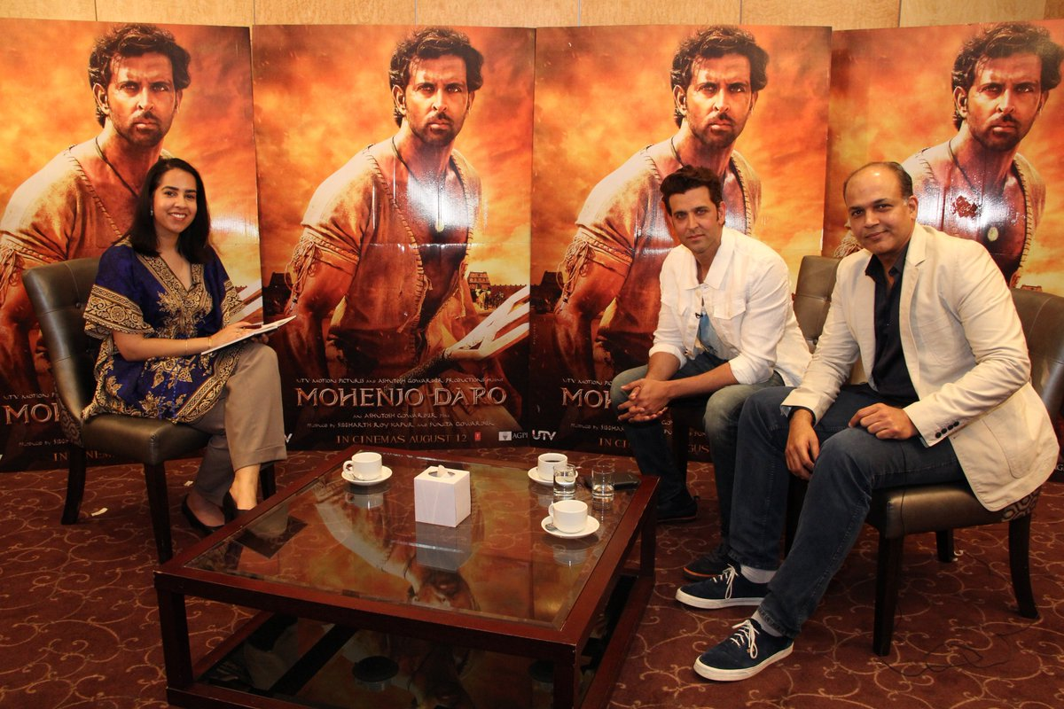 4 days to #MohenjoDaro. My interview with @iHrithik & director Ashutosh Gowariker out this week #Bollywood #Reuters https://t.co/QYiA4dDqwd