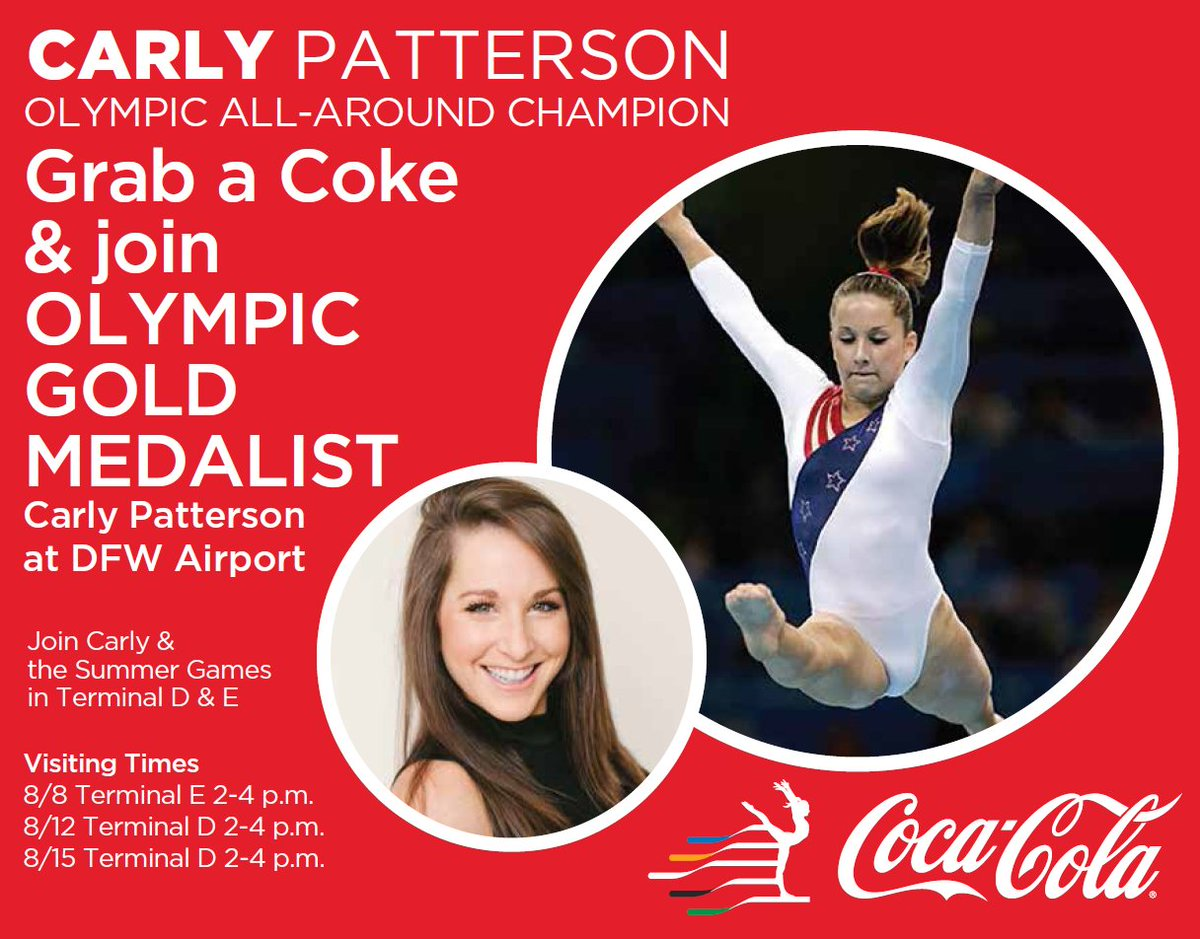 Celebrate a ThatsGold Moment With Carly Patterson! 🏅 Join us now at Terminal E13  Details:
