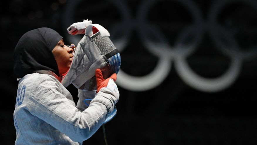 First American with hijab competes in Olympics
