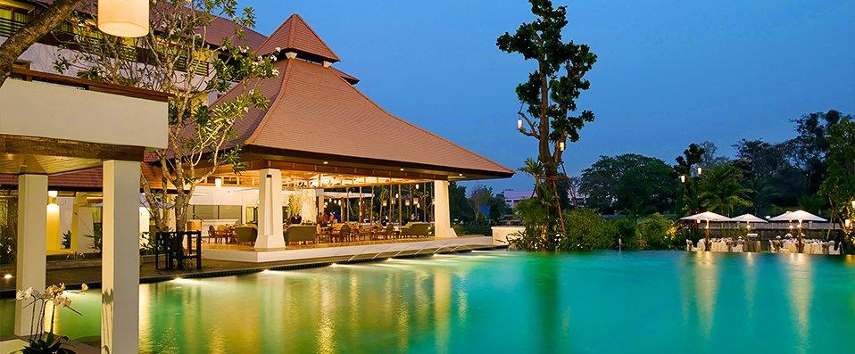 D cor enchanteur piscine d bordement au ratilanna for Piscine a debordement thailande