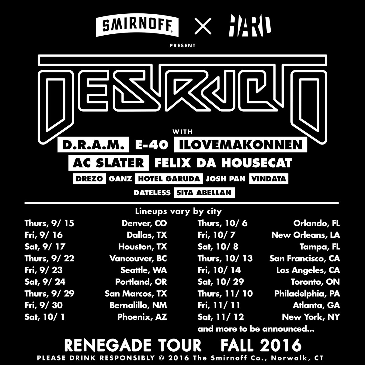The future is now. #RenegadeTour2016 Bringing out the whole squad on this one.   TICKETS ON SALE TOMORROW https://t.co/tGVvcV6fap