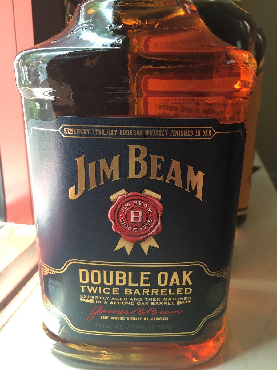 Looking forward to tasting this one @JimBeam #doubleoak #bourbon https://t.co/iYWkMuwFQg