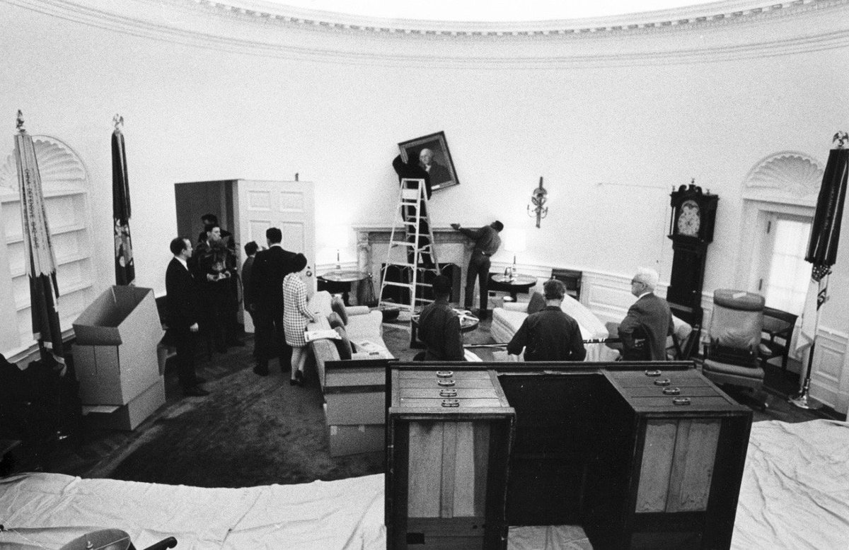 lbj oval office. Oval Office In Metamorphosis From LBJ To Nixon, January 20, 1969: #Atkins Lbj S