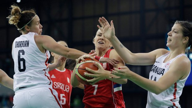 Canada defeats Serbia 71-67 in women's basketball in Rio