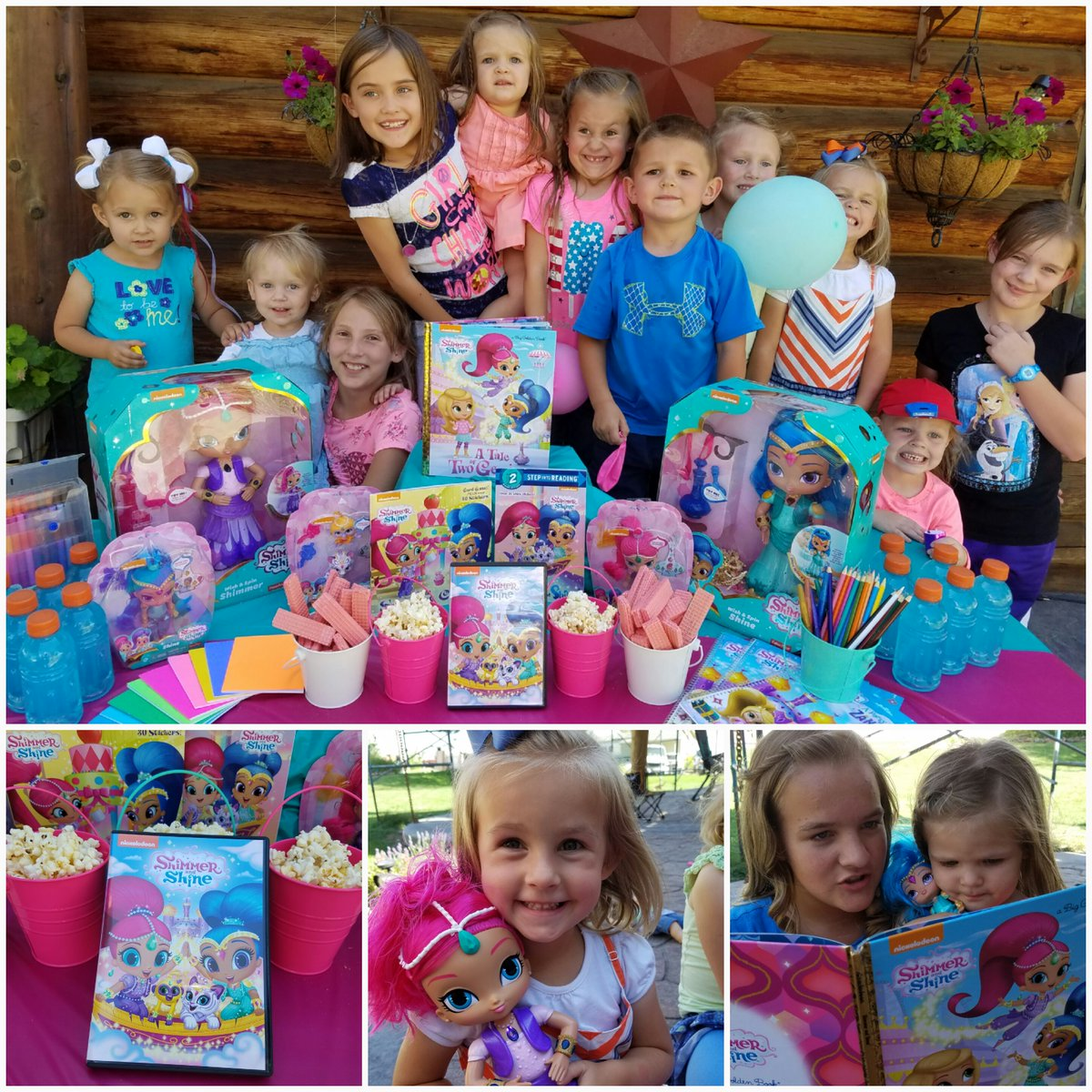 So much fun at our #ShimmerandShineParty kids were all smiles! Get free coloring pages https://t.co/RhKRVjczZn #ad https://t.co/T3FHtThPiA