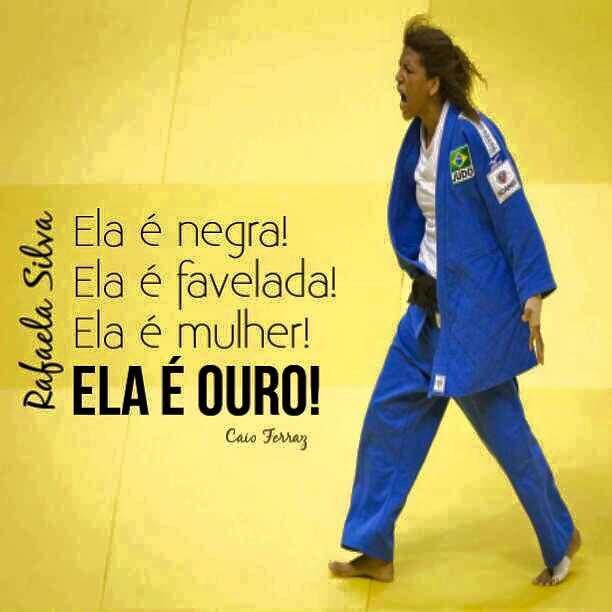 A primeira medalha de #ouro do Brasil veio da gente! Da favela!!!