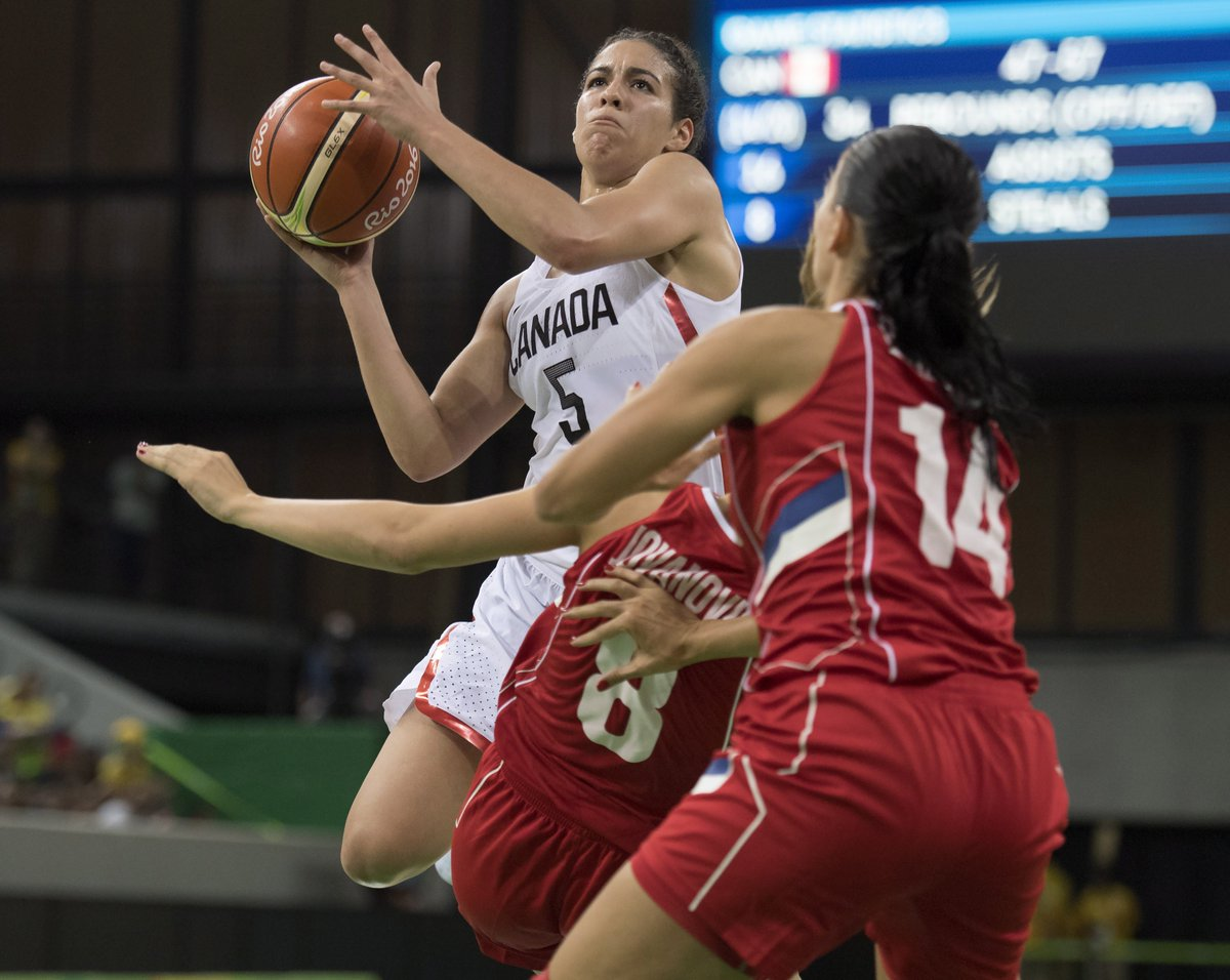 Canada comes back to beat Serbia 71-67 in women's basketball From @Globe_Sports