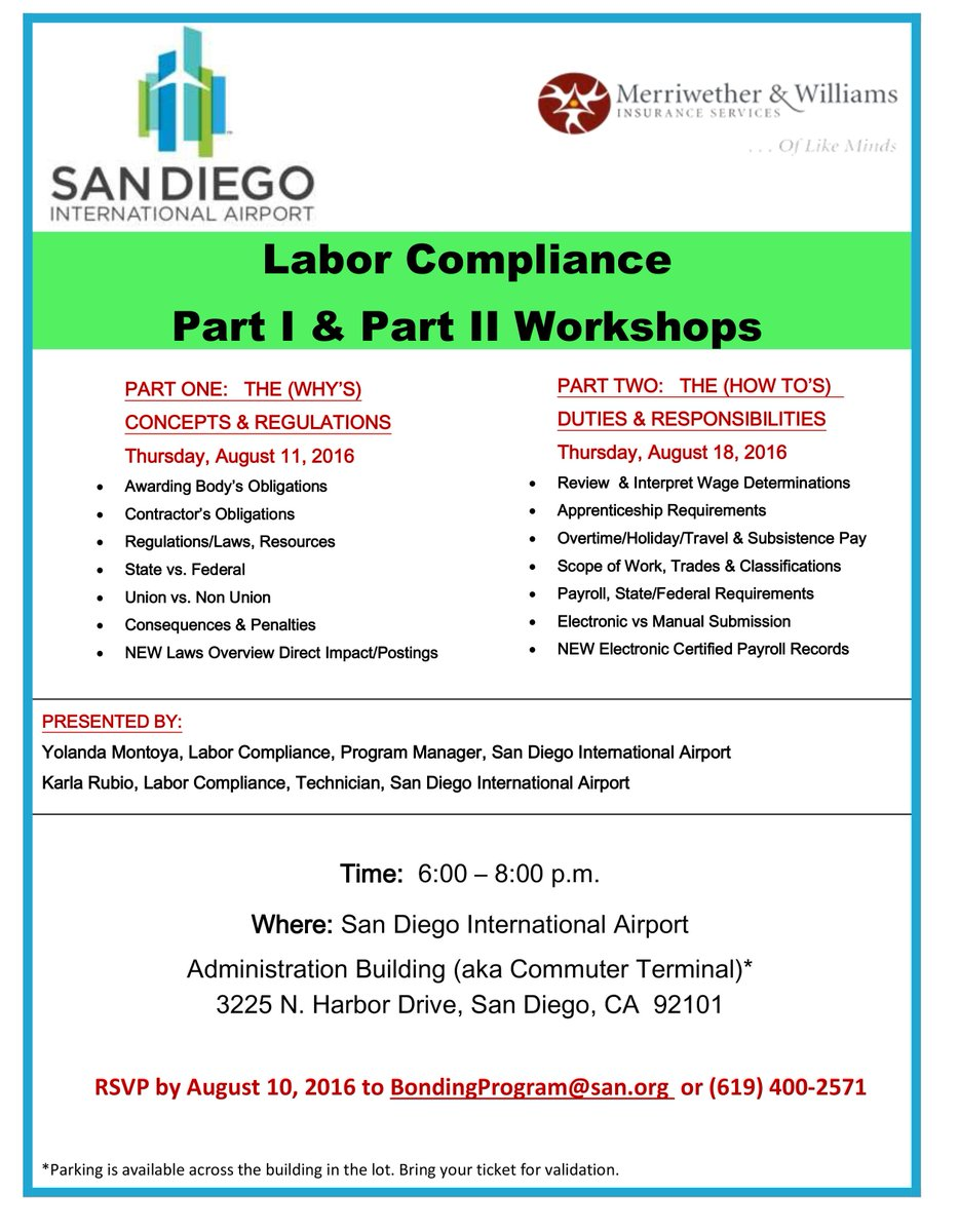 Business Owners: Learn about Concept & Regulations at SAN's Labor Compliance Workshop Pt. I