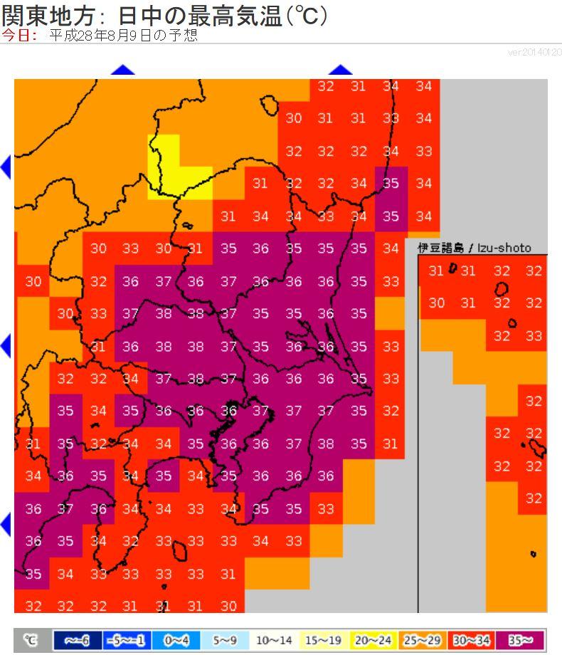 今日の関東は、36~38℃前後まで上がる所が多く、昨日以上の暑さ。埼玉など内陸は一部で39℃前後。熱中症回避を一番に考えて行動を。朝は曇りの所も、昼間は晴れます。ただ、午後は急な雨や雷雨の可能性あり。 https://t.co/4vSGCbkMdd