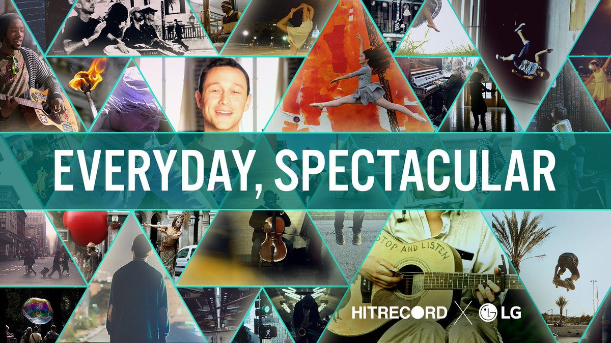 RT @hitRECord: Anyone can come be a part in our #EverydaySpectacular project — https://t.co/tS21sbSRmD #LGxHR https://t.co/N8CdQ7gnwI