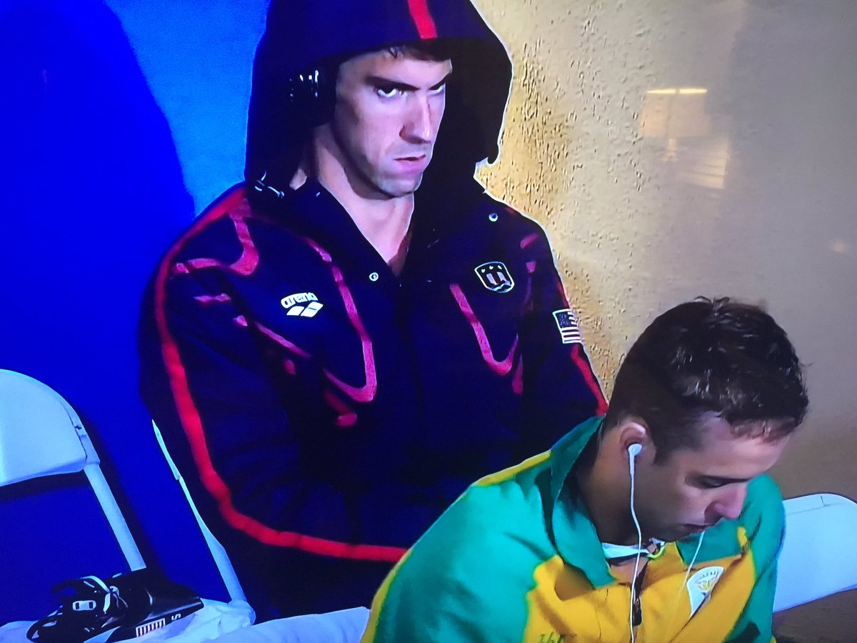 Let's check in with Michael Phelps to see if he holds grudges.... https://t.co/gQAUtbQ4a5