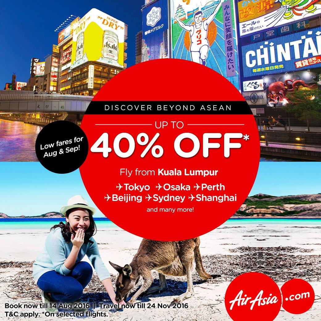 Terokai pelbagai destinasi menakjubkan di luar ASEAN bersama AirAsia X!