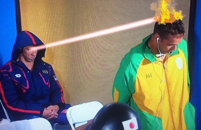 """""""He does his thing, and I hit him with the death stare."""" Prediction? Not even Le Clos tomorrow. https://t.co/eP2iz5MMZV"""