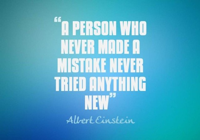 """A person who never made a mistake never tried anything new."" – Albert Einstein https://t.co/bUFTxL1EU8"