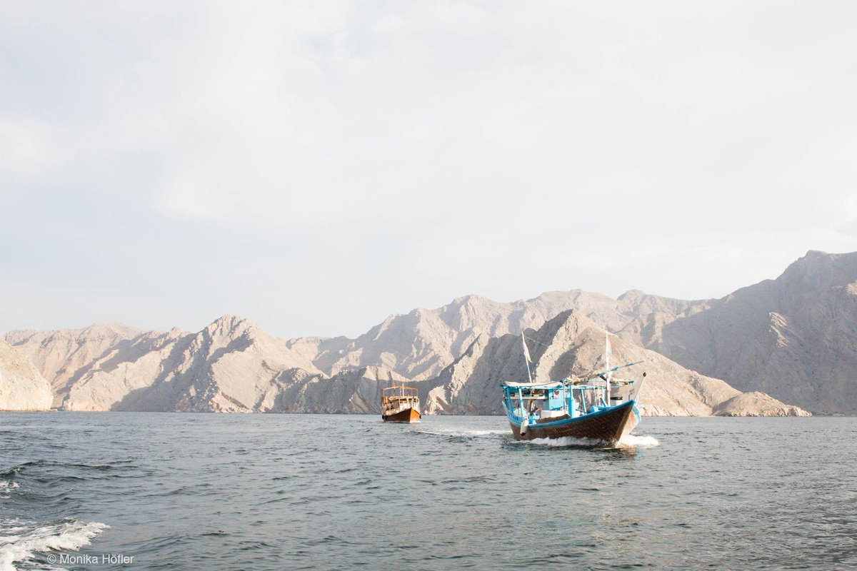 The best way to explore the beauty of Oman is by Dau – a traditional ship.