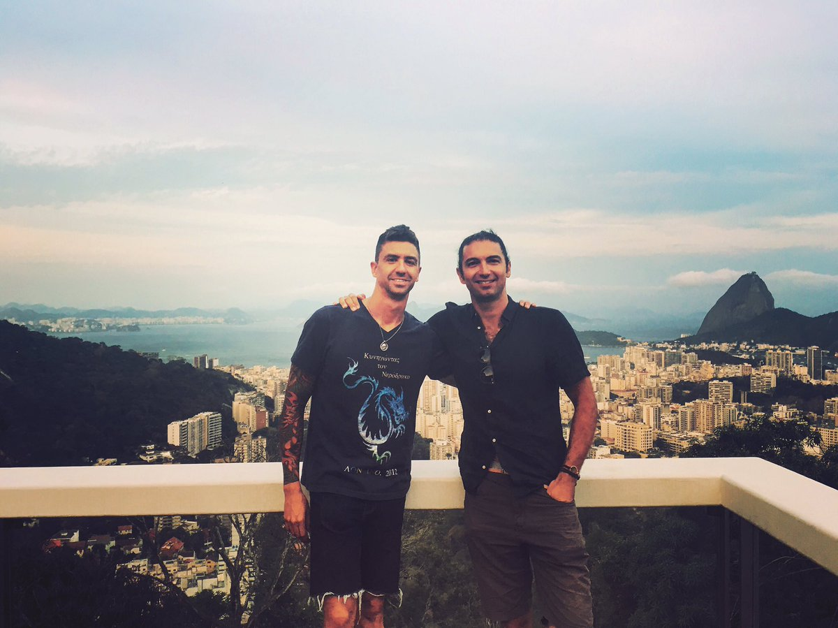 """Chasing Water"" authors @AnthonyErvin & @FourthNight say hi from Rio!"