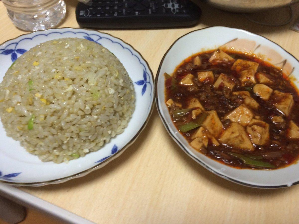 ワガハイ、本日も深夜に中華料理をガチる(ワガハイオリジナル炒飯+四川風麻婆豆腐)