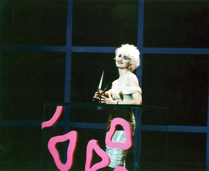 Back in 1987 when won Pop/Rock Video Female at the Happy birthday to the Queen of Pop!