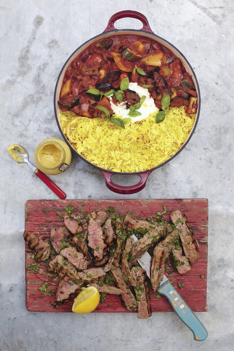 Quick and easy grilled steak ratatouille with saffron rice - delicious! https://t.co/fWS8Ed6BiQ #recipeoftheday https://t.co/yioI5wKx1J