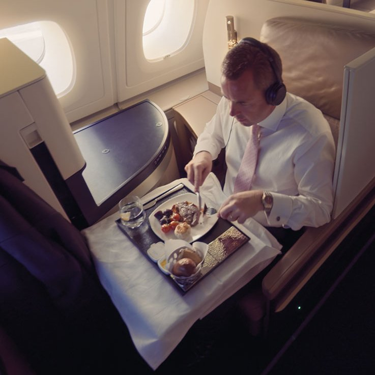 Have the option to dine any time you like in our BusinessClass. Find out more:
