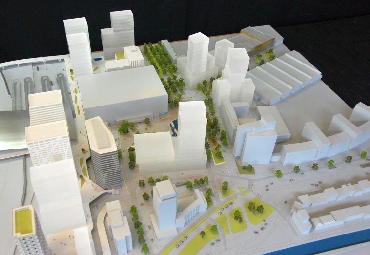 Maquette Jaarbeursplein gereed inclusief #Amrâth Hotel en appartementen. Goed zicht op nieuwe ontwikkelingen #VKZBV https://t.co/zNT2GKLWsR