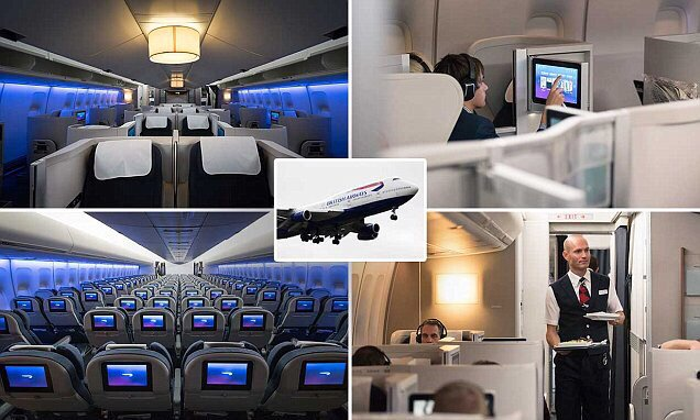 British Airways' new Boeing 747 interior