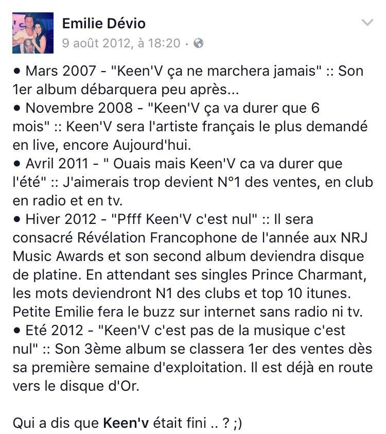 2016 ? @KeenvOfficiel est reconnu comme étant l'un des meilleurs chanteurs français.  #ABonEntendeur. ✌