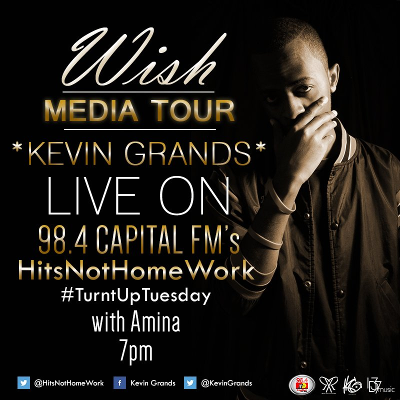 "Tonight, catch me live on @HitsNotHomework. It's #TurntUpTuesday & we'll premier my new single ""Wish"" #WishMediaTour https://t.co/QogDVEOV6j"