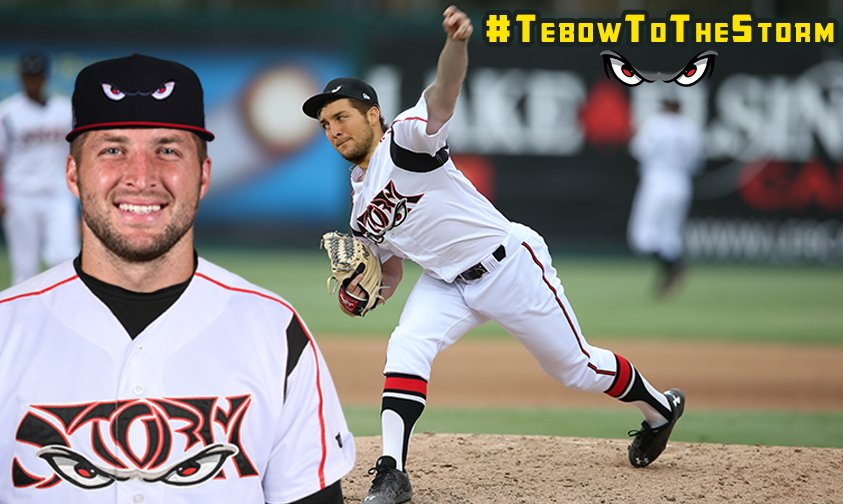 4 years after our 1st attempt, we're bringing back #TebowToTheStorm.  500 RTs and we'll petition the #Padres! https://t.co/HsdSt58FWu