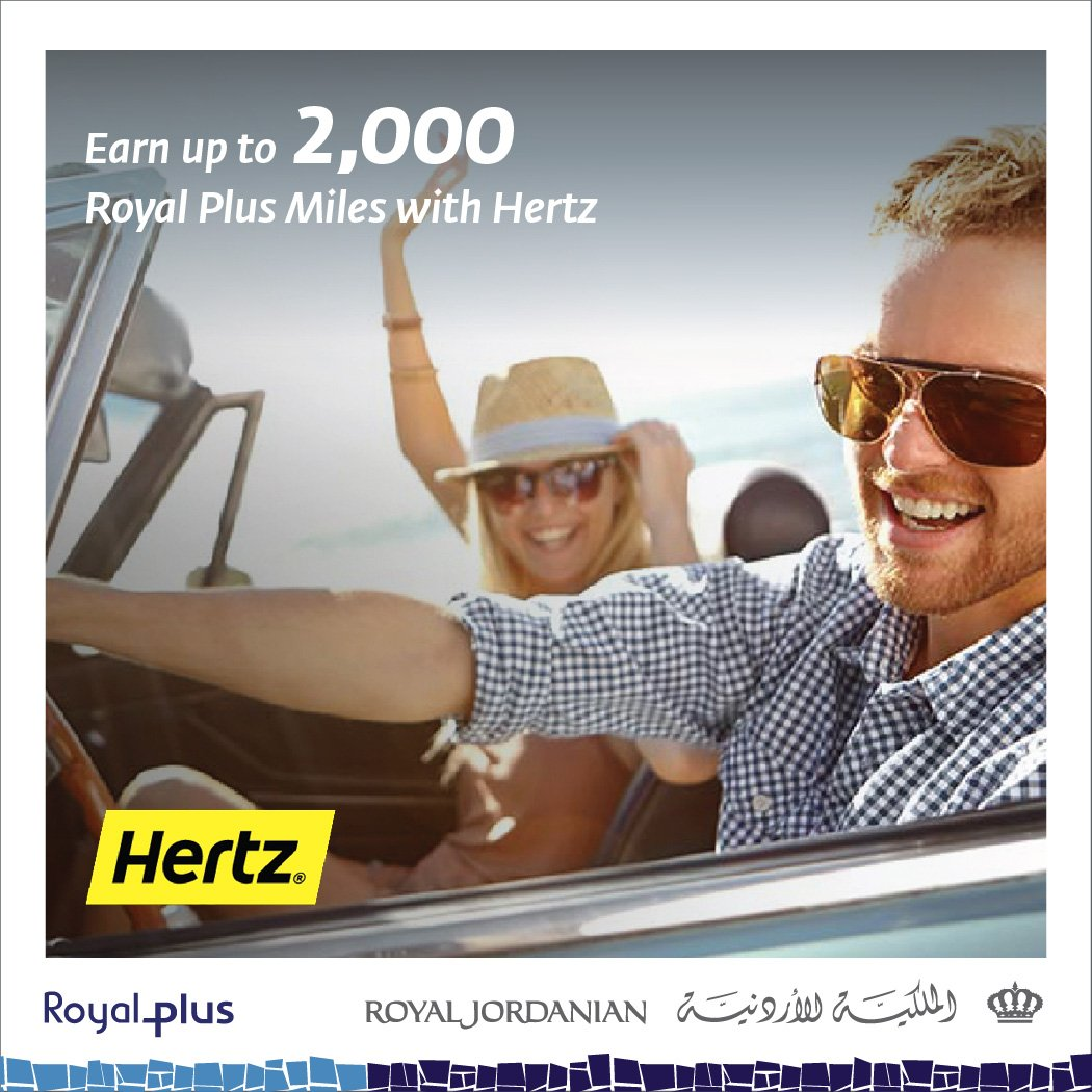 Rent your car via Hertz for 5 or more days & earn RoyalPlus Miles. For info, visit