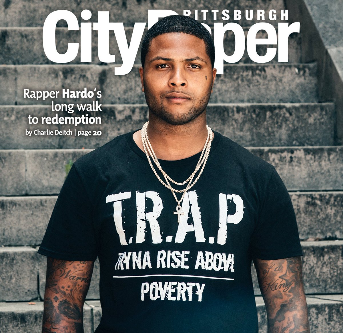 On the cover: Pittsburgh rapper @trapnhardo's long walk to redemption (photo by @huny) https://t.co/7dFUYwDPoU