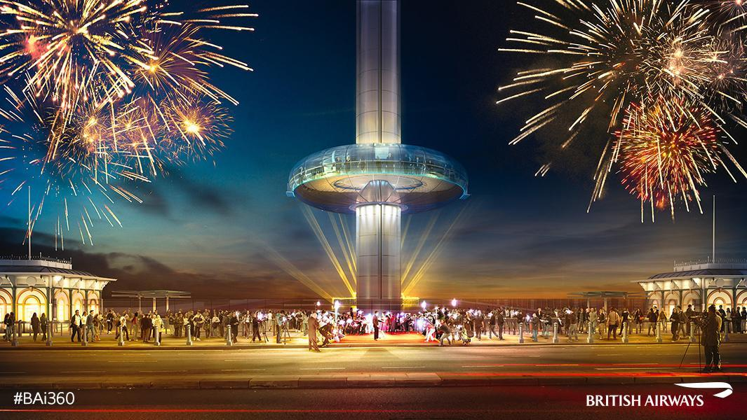 Visiting Brighton this weekend? Don't miss the free @BA_i360 fireworks. 10pm Sat 13 August