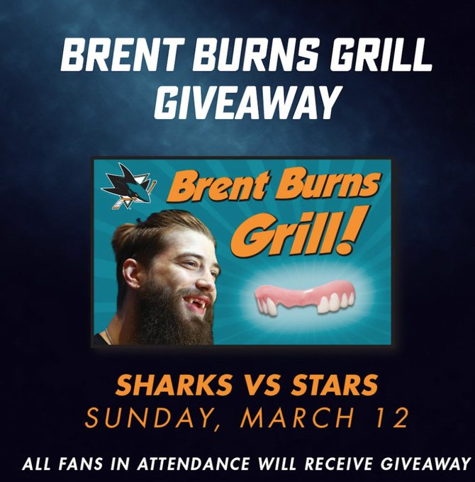 Sharks Fans Can Finally Have Brent Burns's Toothless Smile