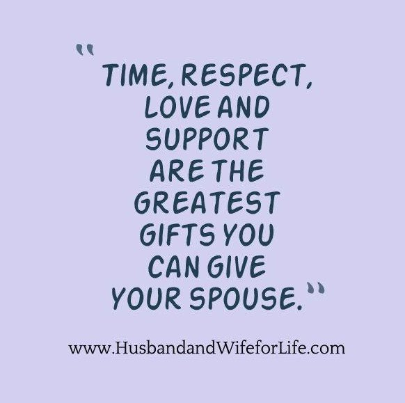 Time, respect, love and support are the greatest gifts you can give your spouse.  #marriage #husbandandwifeforlife https://t.co/3umg3EVzYC