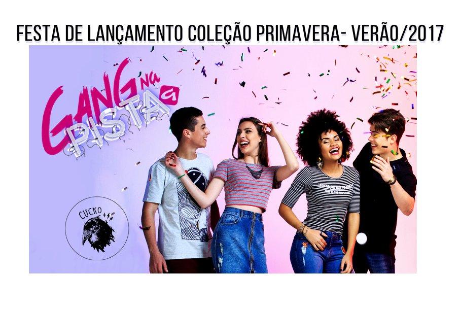 Nesta quinta, vai rolar um carnaval fora de época no lançamento da nova coleção da GANG,na festa Laje do @CuckoPoa . https://t.co/tVLWJZ63kB